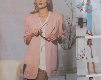 Sewing Patterns Jackets Top Vest Skirt Pants Shorts Women McCalls 6423 size 10 12 14 Easy Spring Summer
