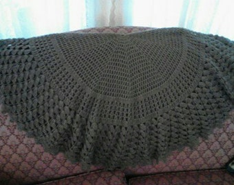 Rich Brown Circle Shawl ECS
