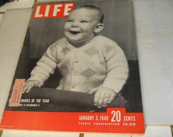 "LIFE  MAGAZINE      """" JANUARY 3,1949 """"      Very  Nice  Life  Magazine"