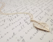Gold Leaf Necklace Realistic Detailed