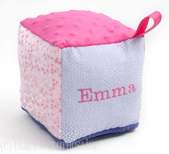 Personalized Custom Design Soft Block Baby Toy - Made to Order - Your Choice of Fabrics