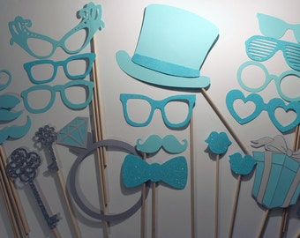 Blue Photo Booth Props