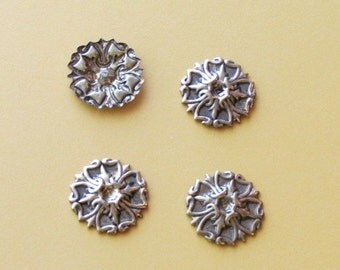 Vintage Brass 25mm.Stampings - No hole