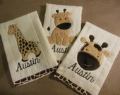 Giraffe Burp Cloth Set