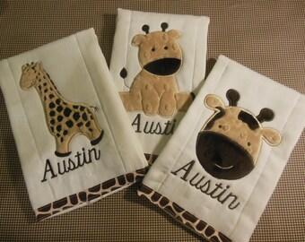 Giraffe Burp Cloth Set