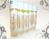 Organic Lip Gloss - Natural Lip Balm Tube With Organic Moroccan Argan Oil and Organic Cocoa Butter