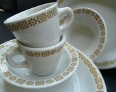 Shenango China Daisy Dot Pattern, vintage restaurant ware, MCM, retro