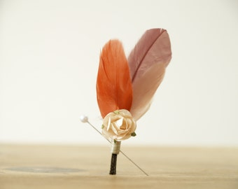 Items Similar To Wheat Boutonniere Wedding Lapel Pin