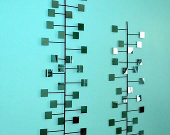 The Miller Retro Modern Mirror Wall Art Steel Vintage Mid-Century Eames Era 1960's inspired Interior Decor Choose your color