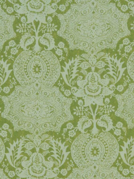 Apple Green Linen Ikat Upholstery Fabric Ikat Curtain