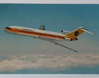 Continental Airlines 727 Trijet postcard