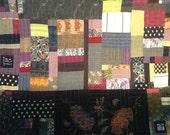 Boro, sashiko themed hand made quilt