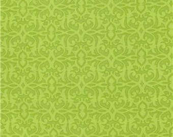 Cotton Fabric -  OOP Lime Green 100% Cotton Fabric SALE Fat Quarter