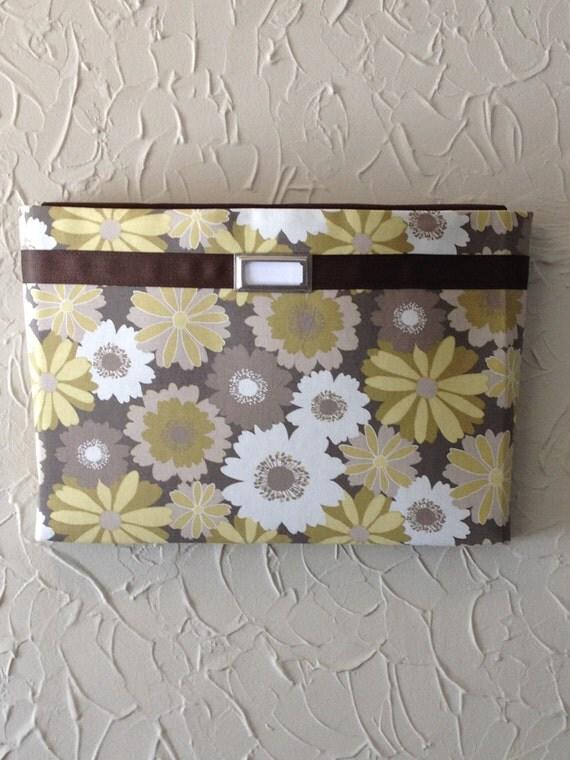 Fabric Wall Pockets With One Pocket Mail Organizer Magazine