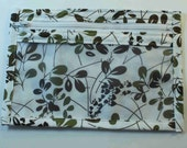 Sage/Brown Leaf Notion's Pouch