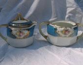 Antique Nippon Cream and Sugar Set