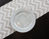 Chevron Table Runner in Taupe & White by Premier Prints