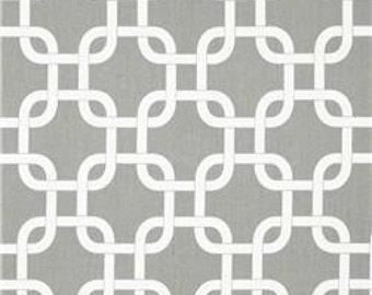 "Grey & White Gotcha Fabric Remnant 13"" x 76"""