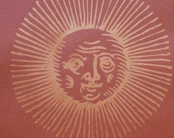 Old Sun Design - limited edition screenprint