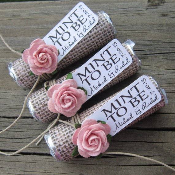 Wedding Favors Set Of 150 Mint Rolls Mint By