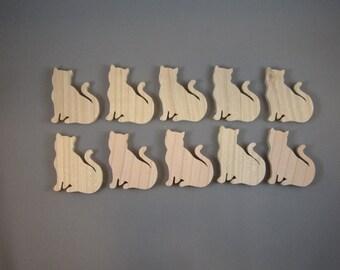 "2"" Sitting Cats (10)"
