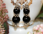 Black & Silver Earrings