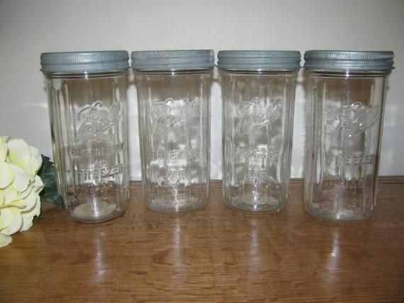 4 Tall Ball Freezer Jar Canning Fruit Jar With Original Zinz