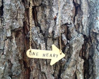 One Heart, One Way arrow necklace