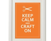 keep calm and craft on  8''x10'', free shipping, spring home decor custom color