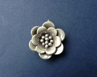 HT-20 Karen Thai Hill Tribe Silver Flower Charm or Pendant