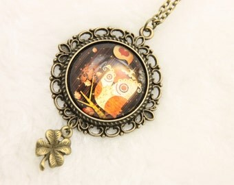 Necklace OWL funny 2525C