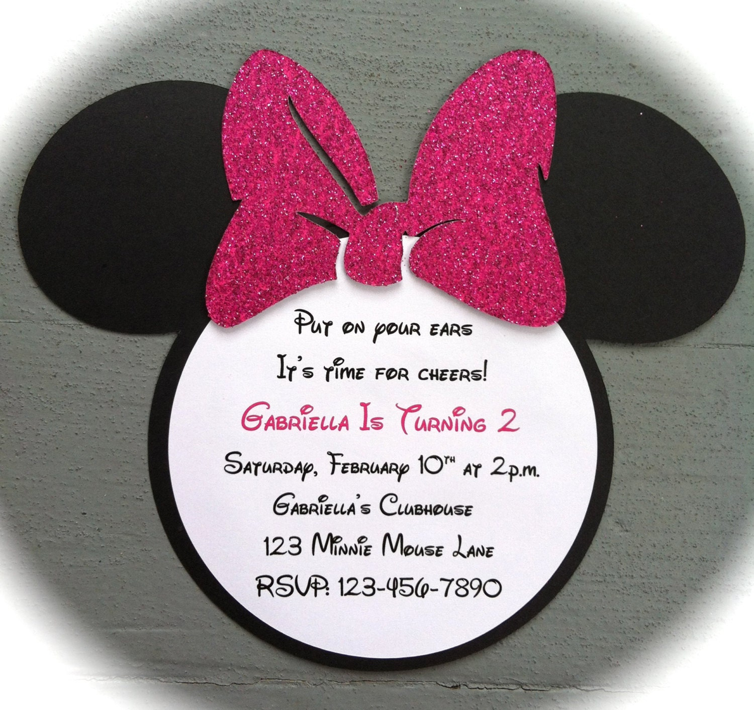 Custom Handmade Inspired Mickey Mouse invitations with real – Handmade Mickey Mouse Birthday Invitations