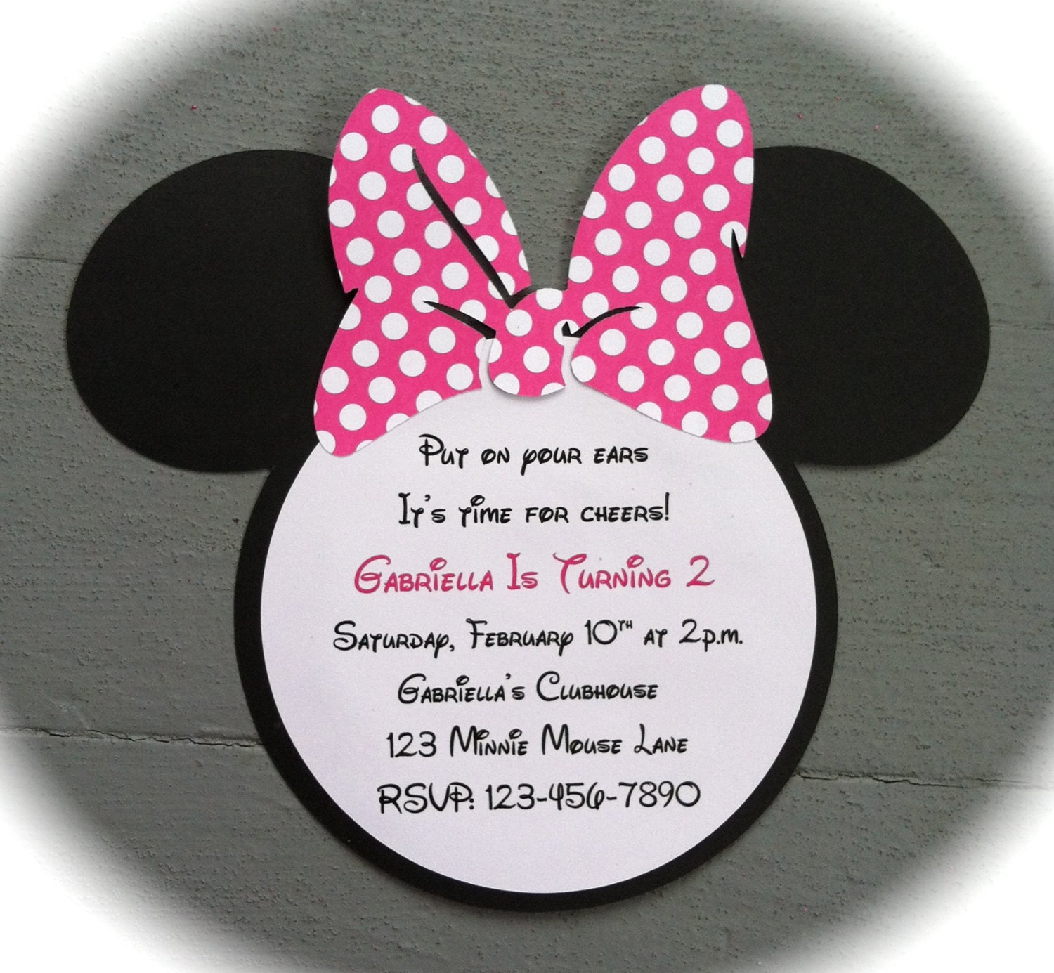minnie mouse invite  etsy, invitation samples
