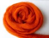 Orange Romney and Merino Blend Wool Roving