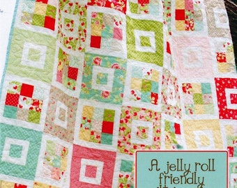 QUILT KIT: Shortcake - - Jelly Roll Friendly - Easy - Twin - Queen - Throw - Lap - Coverlet