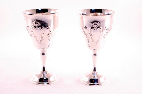Reserved for Gayla - Vintage Gorham Silver Electroplate Goblets YC 1329