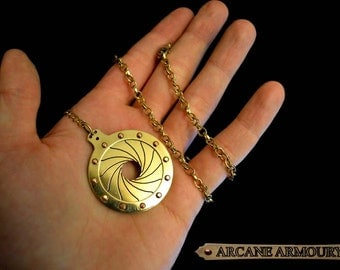 Steam punk monocle with  Iris Engraved on brass goth fantasy sci fi