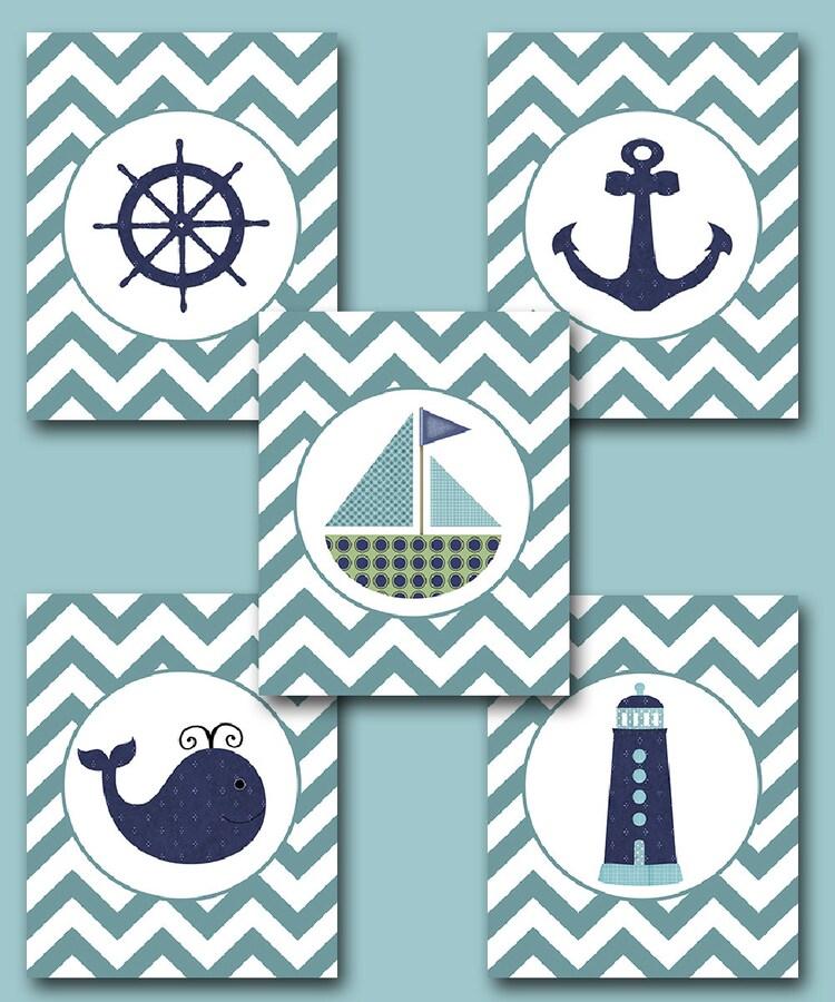 Baby Nash S Vintage Nautical Nursery: Sea Nautical Ship Baby Boy Nursery Art Nursery By Artbynataera
