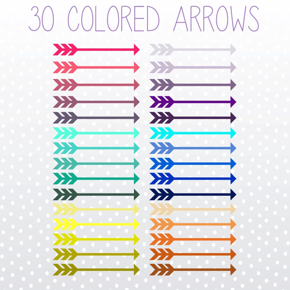 Decorative Arrow Clip Art Colorful Arrows Clip Art