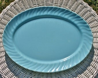 Franciscan Coronado, oval serving platter, aqua gloss