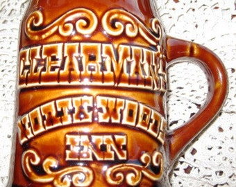 Vintage Clearman's Northwood Inn Mug by Hall Pottery MINT