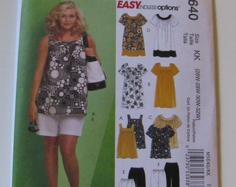 McCall's Easy Endless Options M5640 Sewing Pattern  Plus-Size Shorts Tops New and Uncut Pattern