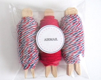 Bakers Twine Airmail  3 pack - Divine Twine