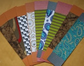 Colorful Printed Paper Bookmarks (Set of 9)