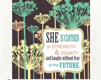 Mother's Day Printable, Bible verse printable, Scripture Art, Proverbs 31:25, Women's printable, diy, Instant Download