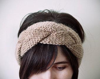 turban, CHOOSE ONE COLOR, alpaca and acrylic knitted turkhead knot headband
