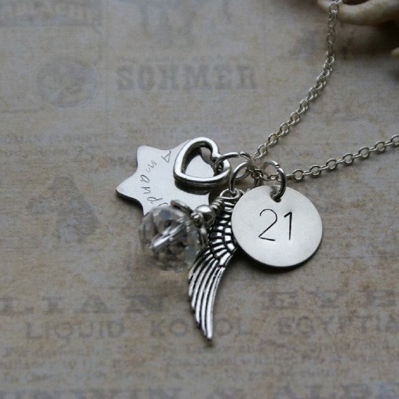 Personalised 21st Birthday Necklace Keepsake By RubysCharms