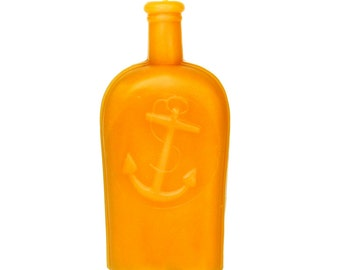Anchor Candle: Beeswax Bottle Candle, Civil War Anchor Flask, Rare Anchor Bottle