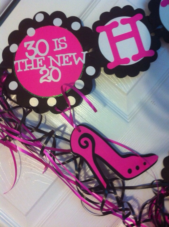 Items similar to 30th birthday decorations personalization for 30th birthday decoration