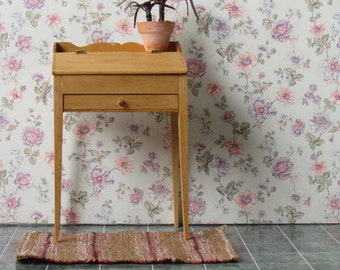 Dollhouse  Desk Schoolmasters' Desk Pine Hinged top Unique Handcrafted 12th Scale